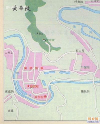 黄帝陵地图