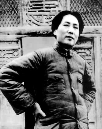 1937年毛泽东在延安凤凰山
